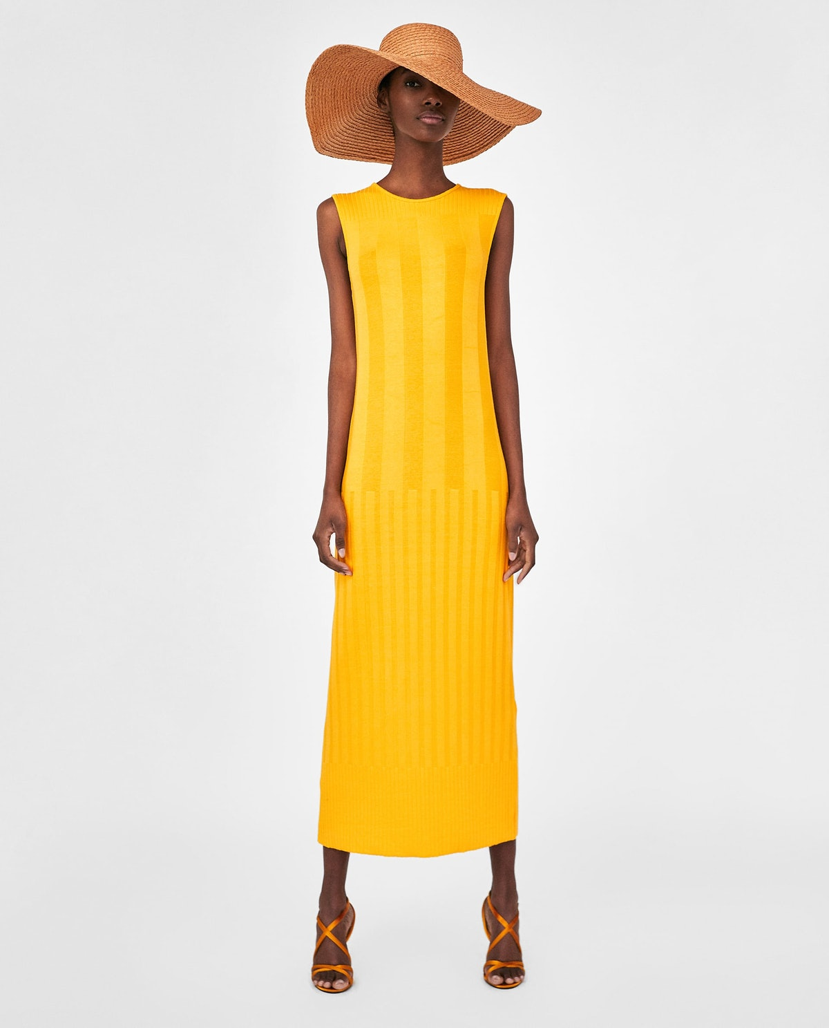 CONTRASTING RIBBED DRESS