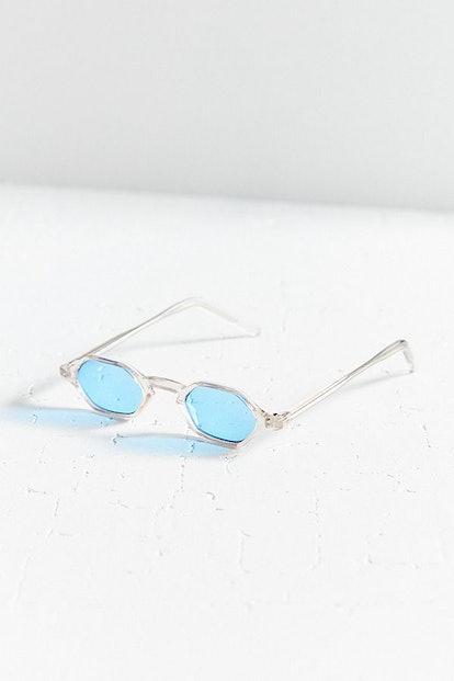 Vintage Honey Hexagonal Sunglasses