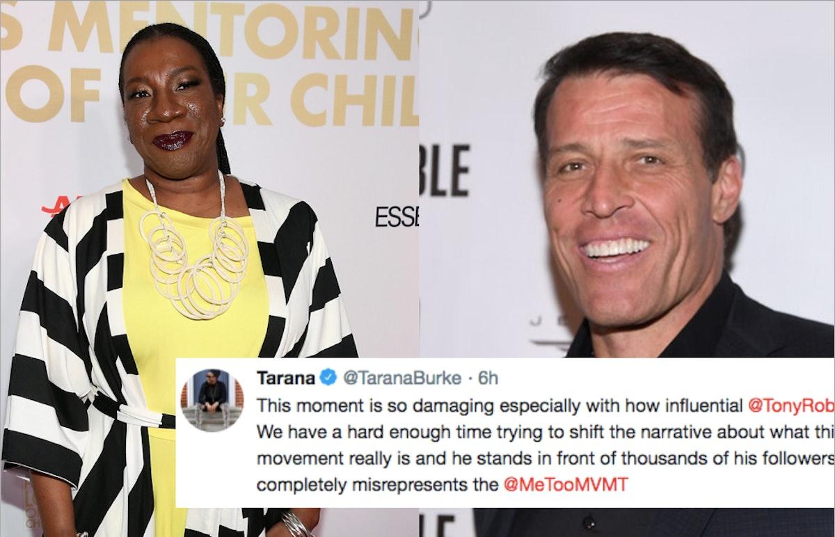 "Tarana Burke Blasts Tony Robbins, A Life Coach, For Saying Women Use #MeToo To ""Get Significance"""