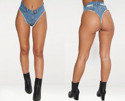 Mid Wash Denim Knicker