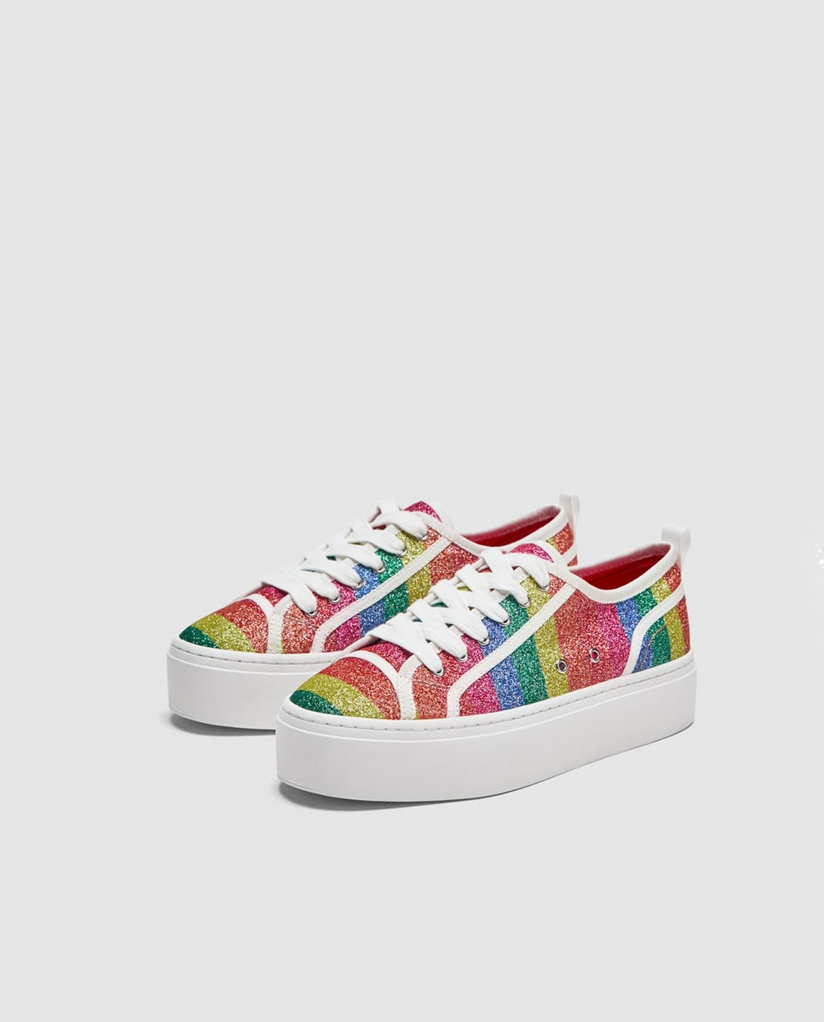 SHINY MULTICOLORED SNEAKERS