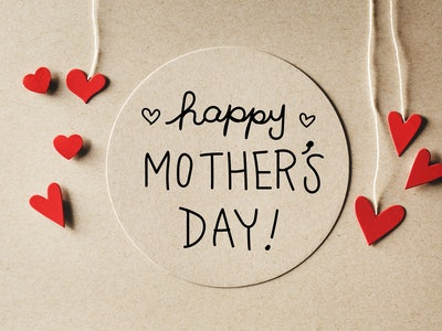 a happy mother's day sign