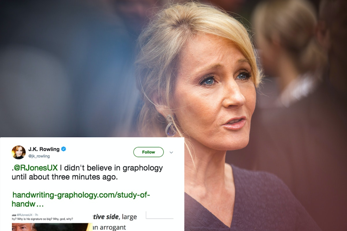This J.K. Rowling Tweet About Trump's Extra Large Handwriting Is So On Point