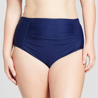 Sea Angel Women's Plus Size Ruched High Waist Bottom