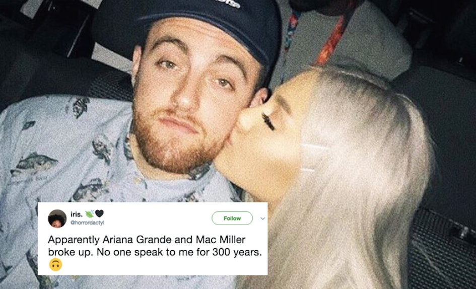 ariana grande mac miller broke up so excuse me while i go cry