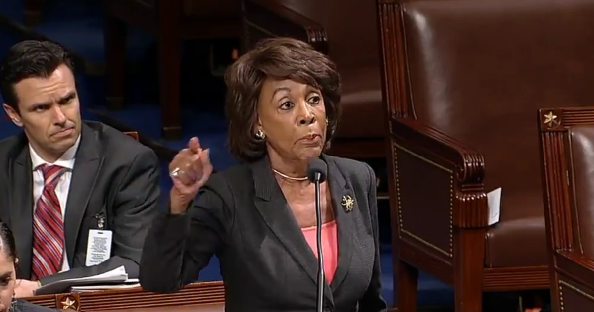 Video Of Maxine Waters Shutting Down A GOP Lawmaker On The House Floor Is Straight Fire