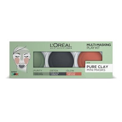 L'Oreal Paris Pure Clay Multi Masking Face Mask Play Kit