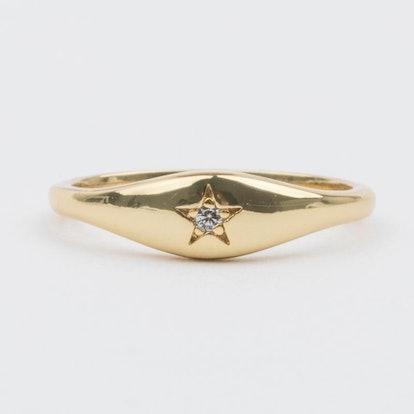 Aiden Diamond Signet Ring