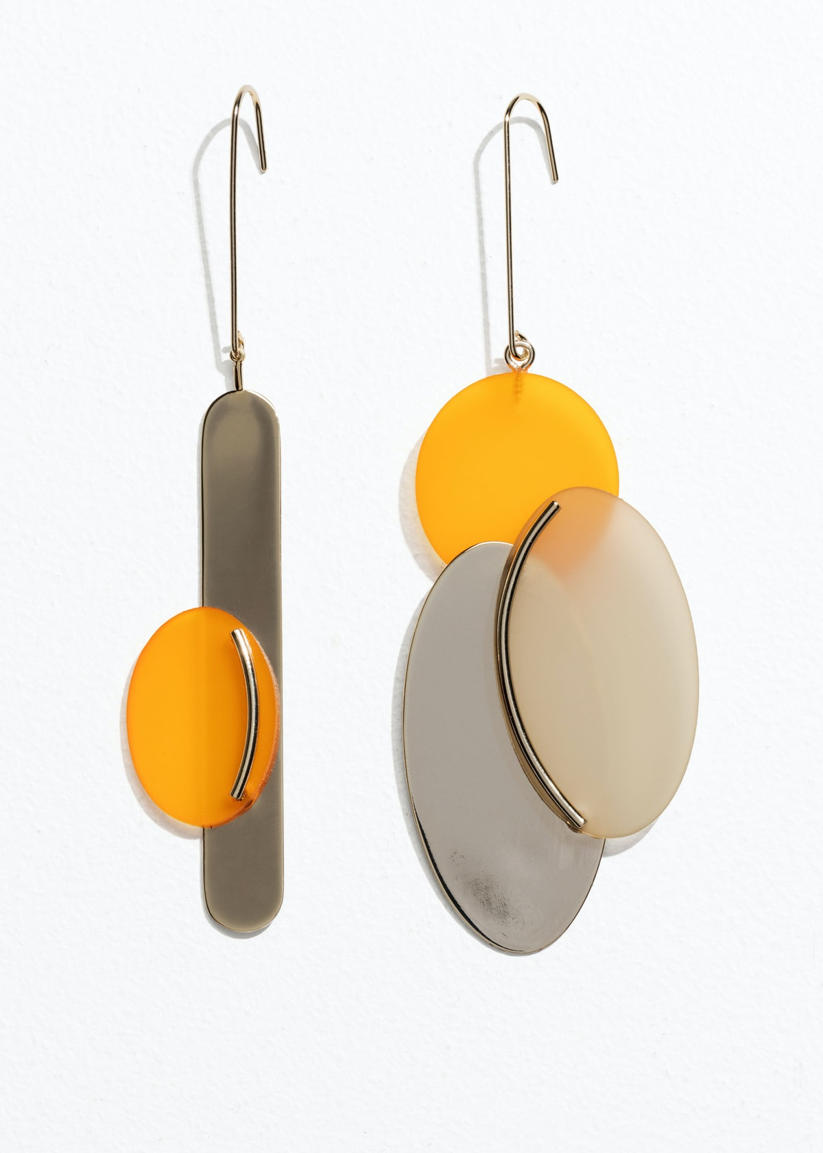 Abstract Oval Earrings