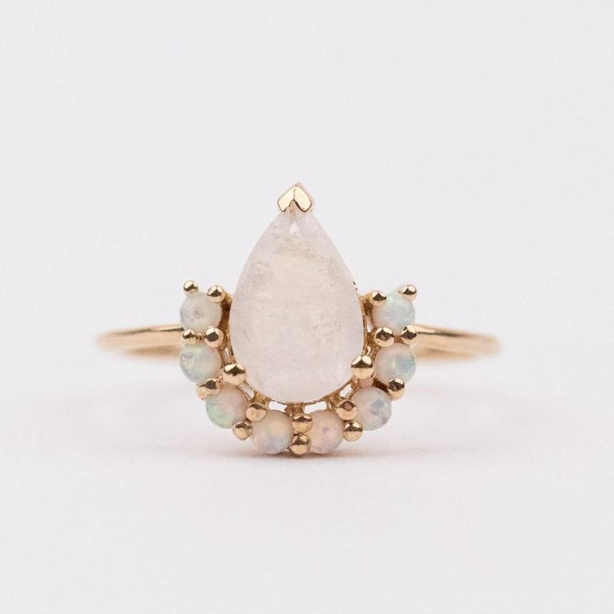 Opal & Moonstone Ballerina Ring