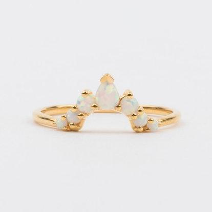 Opal Angels Arc Ring