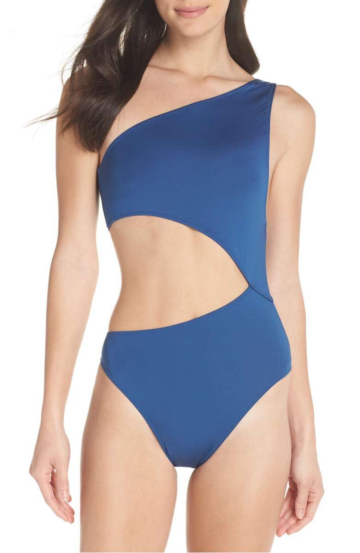 J.Crew Playa Tilden One-Shoulder One-Piece Swimsuit