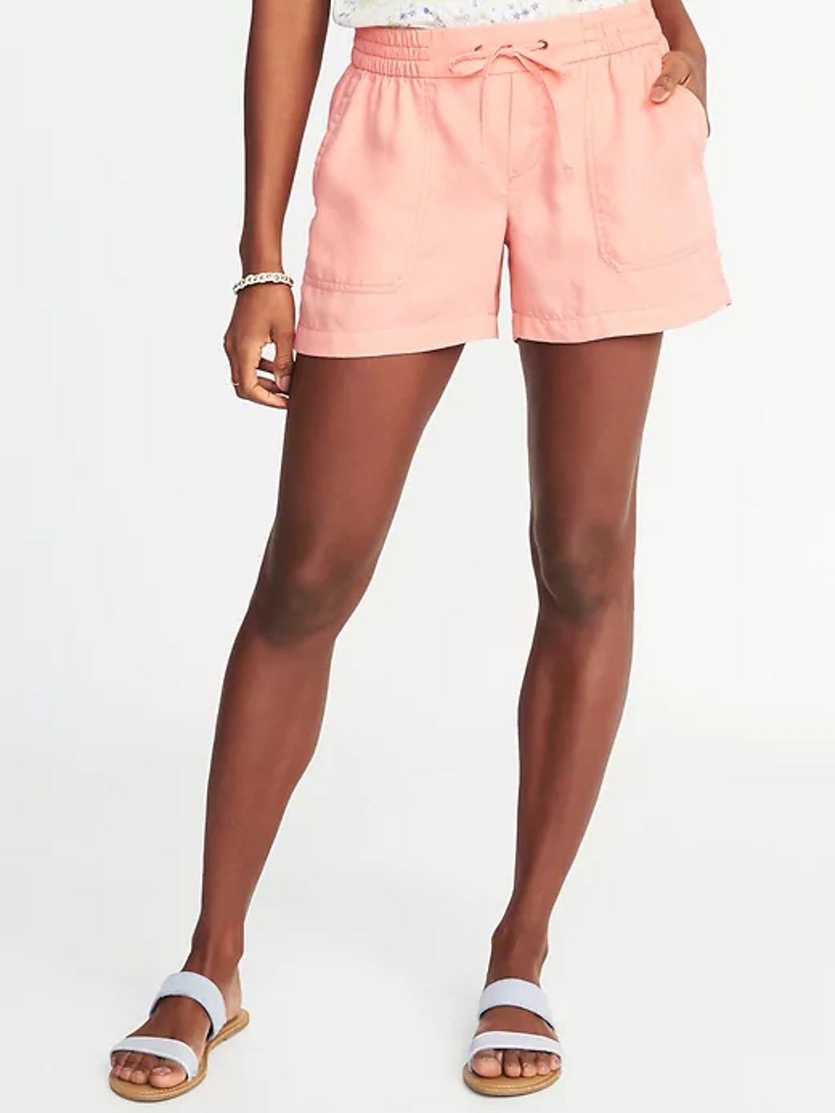 Mid-Rise Soft Utility Shorts for Women