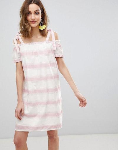 Vero Moda Cold Shoulder Stripe Dress