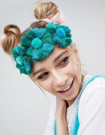 ASOS DESIGN Tassel Fan Headband