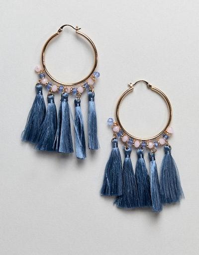 ALDO Summer Tassel Hoop Earrings