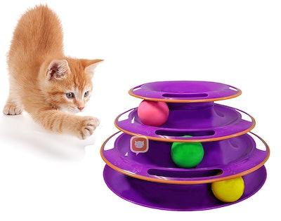 Purrfect Feline Titan's Tower Ball Toy