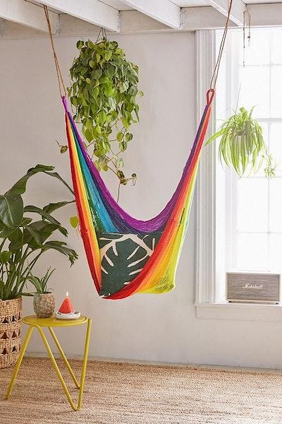 Yellow Leaf Hammocks Rainbow Hammock Chair