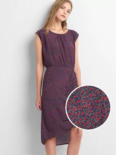 Cap Sleeve Ruched Mini Dress