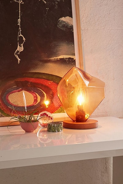Odis Faceted Glass Table Lamp