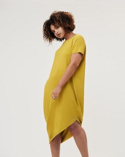 Crepe Augusta Geneva Dress - Mustard