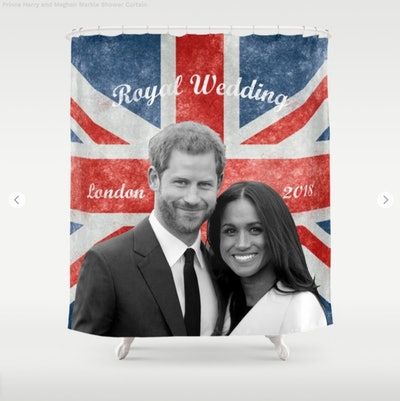 Harry & Meghan Shower Curtain