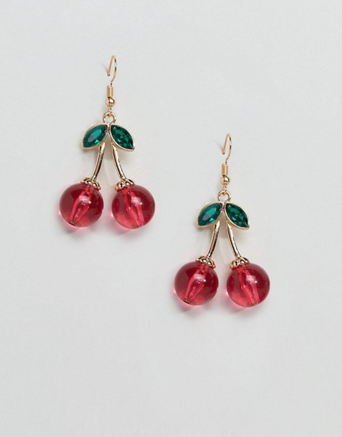 ASOS Resin Cherry Drop Earrings