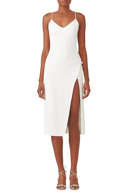 David Koma Side Split Midi Dress
