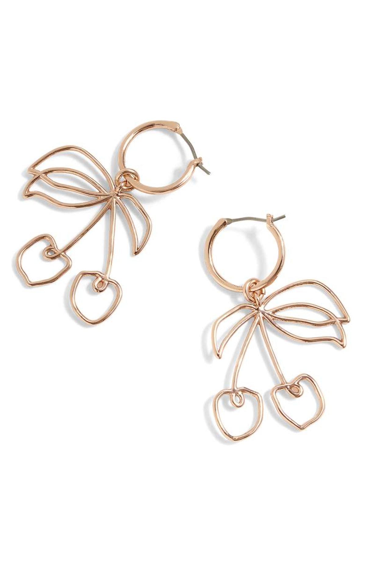 J.Crew Cherry Wire Drop Earrings