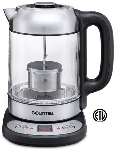 Gourmia Electric Glass Tea Kettle