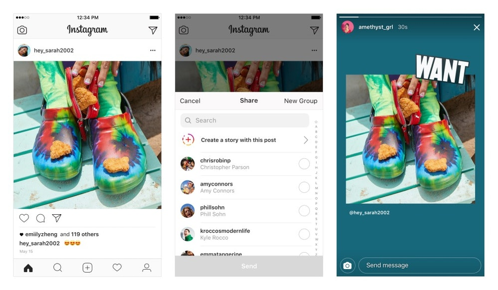 Image result for instagram share post to story