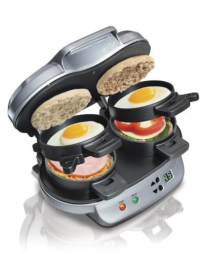 Hamilton Dual Sandwich Breakfast Sandwich Maker