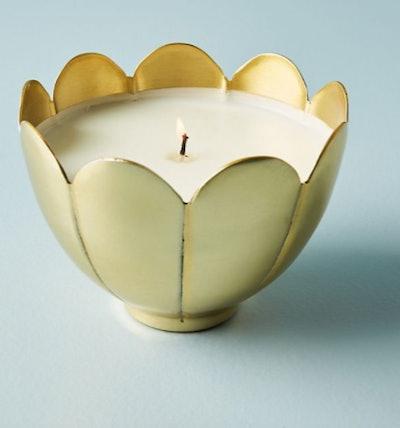 Metallic Flower Candle