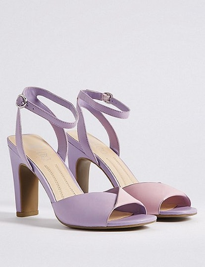 M&S COLLECTION Leather Square Toe Sandals