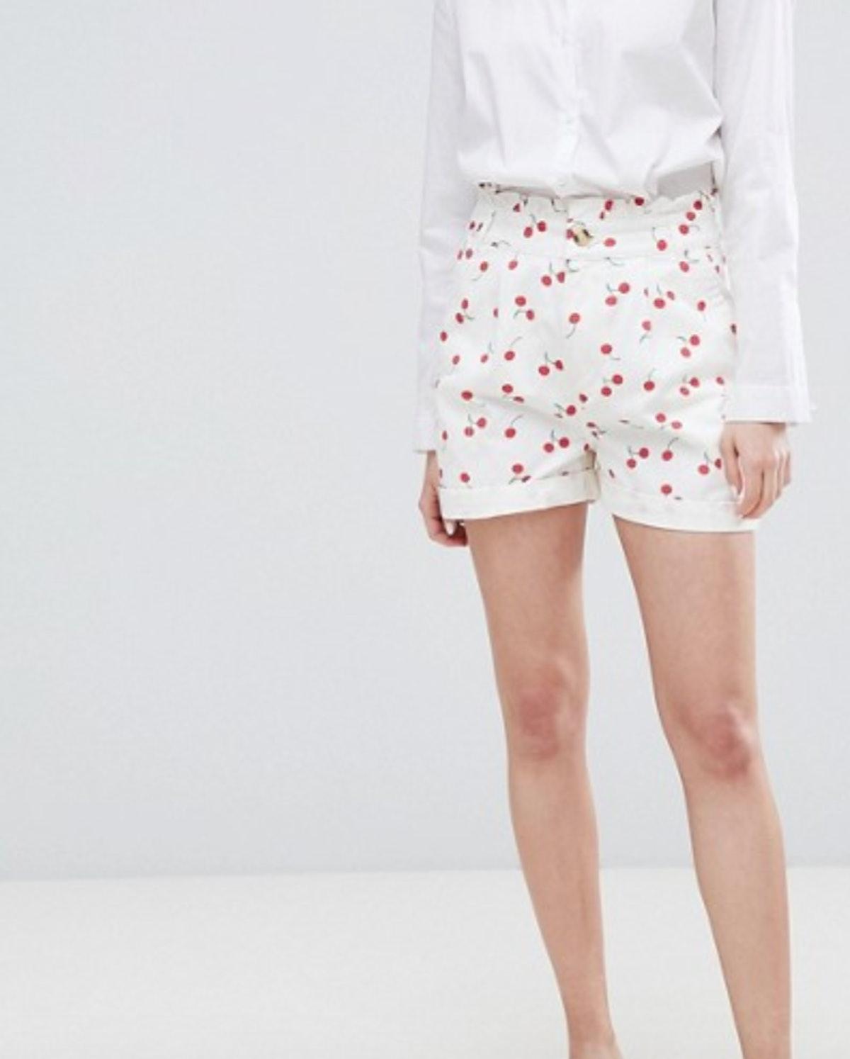 ASOS DESIGN cherry print shorts