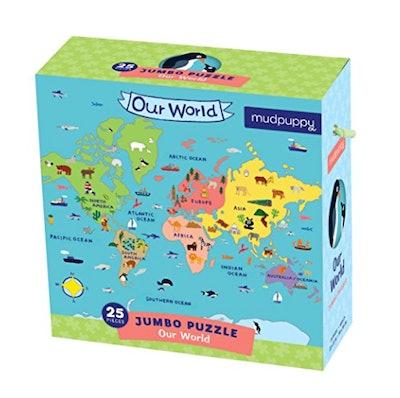 Mudpuppy Jumbo 'Our World' Puzzle