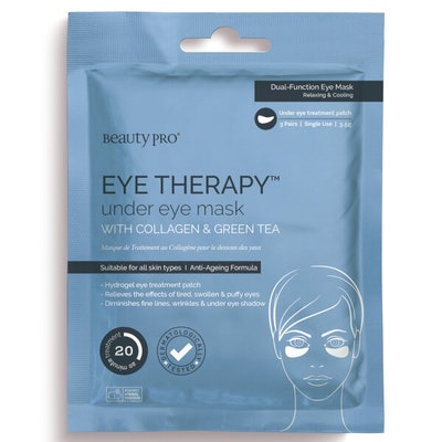 BeautyPro Eye Therapy Under Eye Mask with Collagen & Green Tea