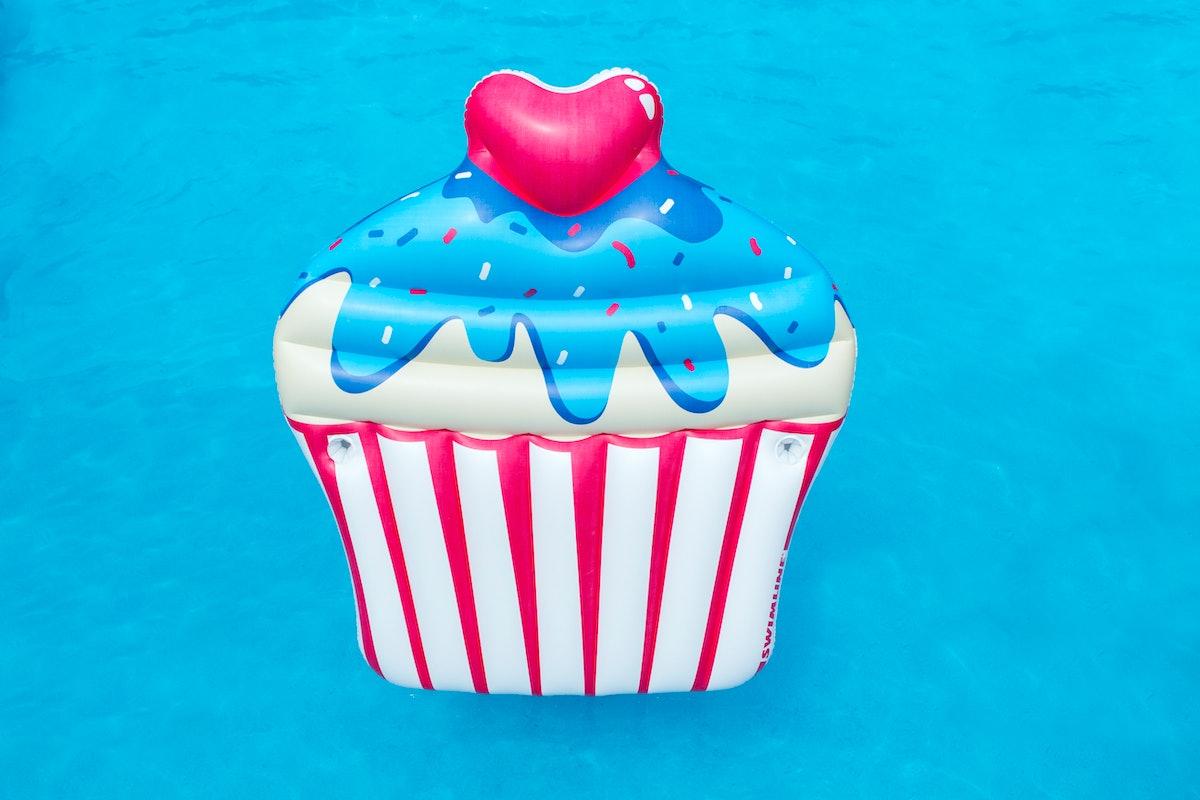 Swimline Inflatable Cupcake Ride-On Swimming Pool Float
