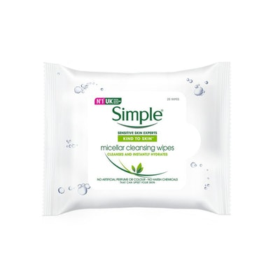 Simple Micellar Cleansing Face Wipes