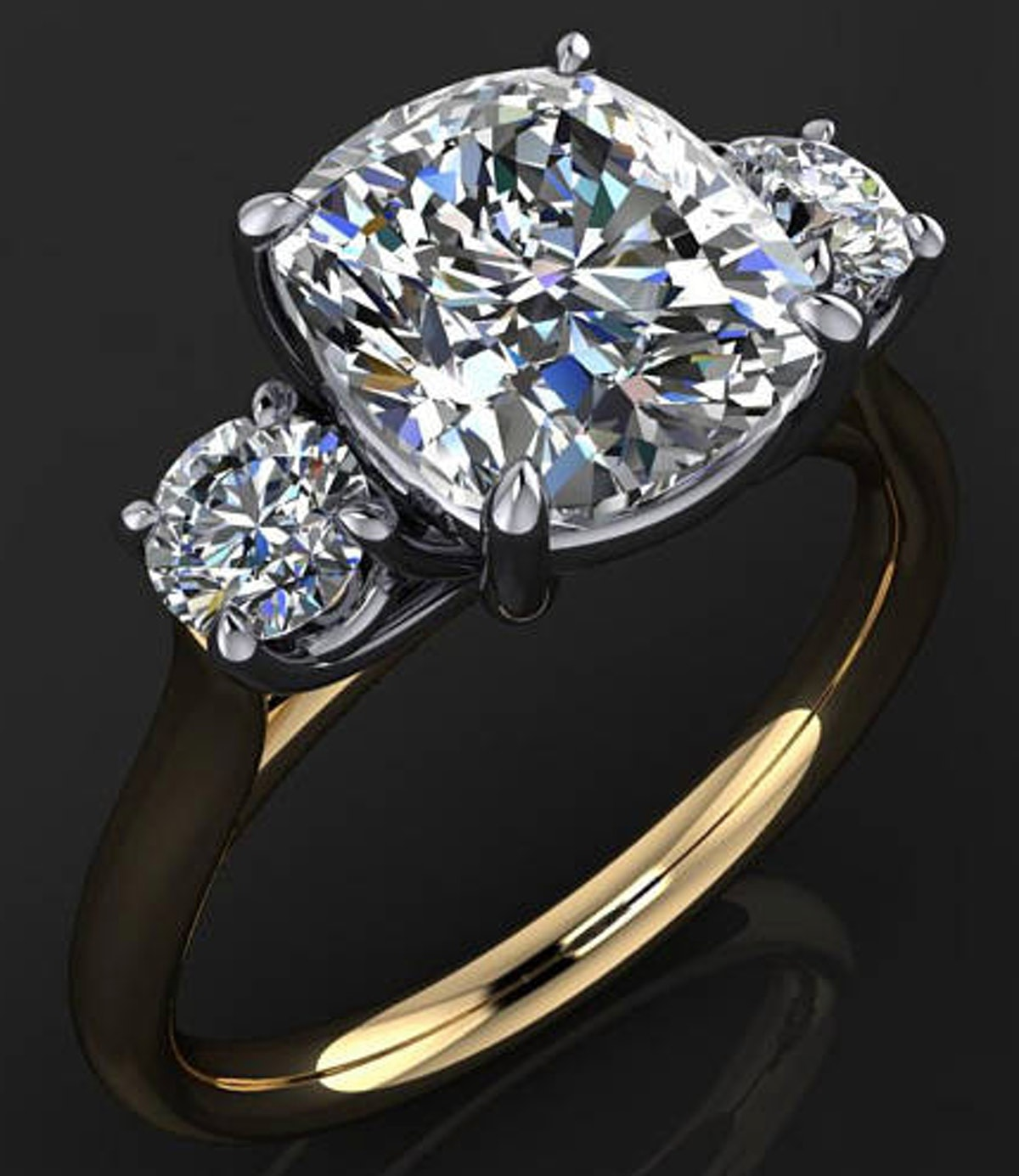 Meghan Ring — 2.5 Carat Cushion Cut ZAYA Moissanite Engagement Ring