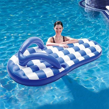 Blue Wave Marine Blue Flip-Flop Inflatable Pool Float