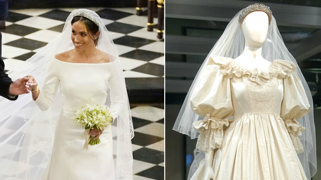 Meghan Markle S Wedding Dress Vs Princess Diana S Wedding Dress