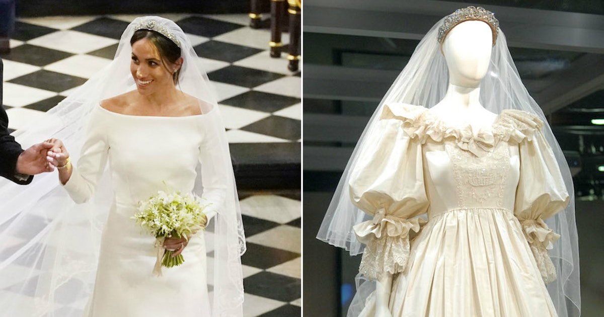 Wedding Gown Images: Meghan Markle's Wedding Dress Vs. Princess Diana's Wedding