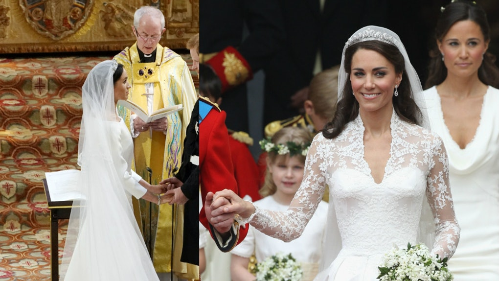 Kate Middletons Wedding Dresses.Meghan Markle S Wedding Dress Vs Kate Middleton S Wedding