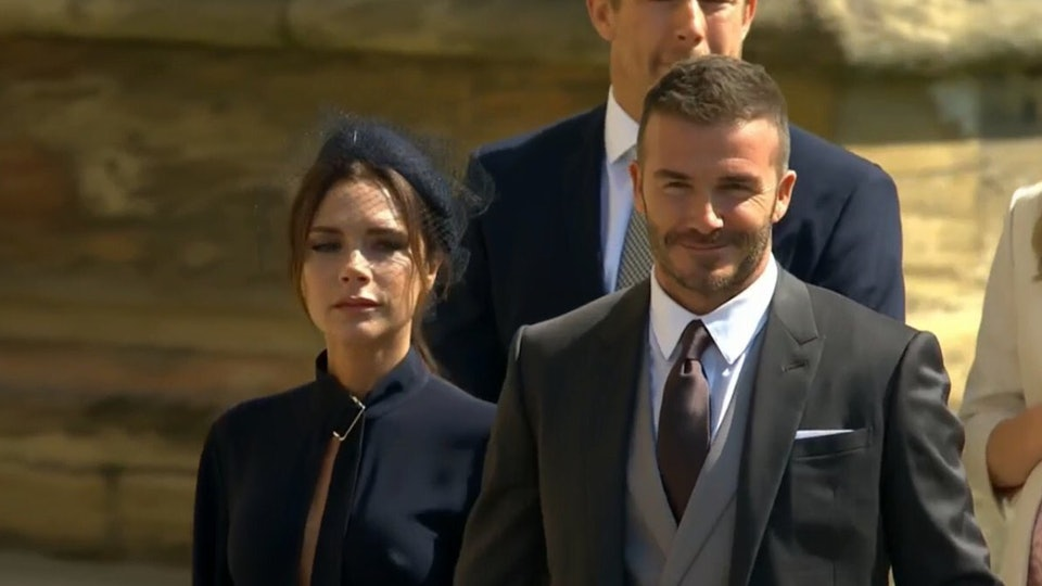 People Are Ed Victoria Beckham Didn T Smile While Arriving At The Royal Wedding Because Of Course