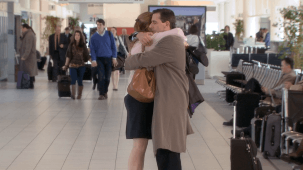 What Pam Said To Michael During His 'The Office' Goodbye