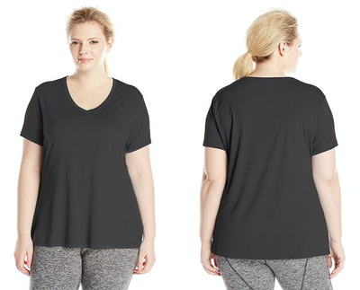Just My Size Cool Dri Short Sleeve V-Neck Tee