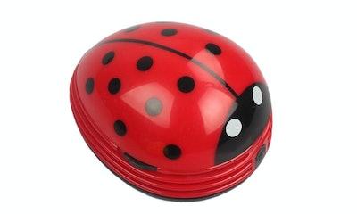 E ECSEM, Cute Portable Ladybug Mini Desktop Vacuum