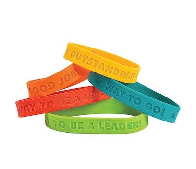 Award Sayings Rubber Bracelets