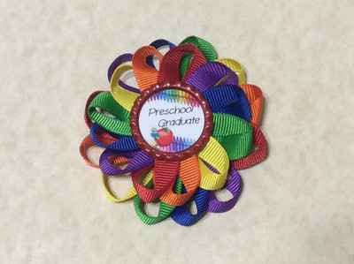 Preschool Graduation Loopy Flower Bow